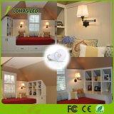 Round Lampshade Aluminum Houisng E27 6W LED Candle Bulb Light