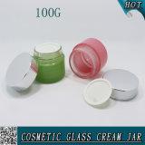 100ml vident le choc en verre 100g de masque facial de produits de beauté de cylindre