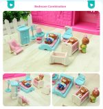 Peu plastique réglé de jouets d'enfants de mini Chambre de jeu d'ours badine des jouets