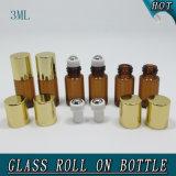 rolo de vidro vazio lustroso de bronze antigo do tubo de ensaio 3ml no frasco