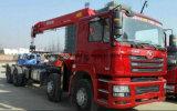 선적 기중기를 가진 Shacman 8*4 트럭 트럭 거치된 기중기 12 톤
