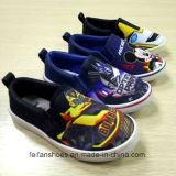子供の美しい漫画の印刷は蹄鉄を打つ学校の靴のズック靴(FF921-8)に