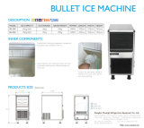 New Design Hot Bullet Ice Maker para uso comercial