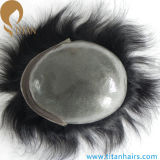 0.03mm-0.09mm Ultra Thin Skin Indian Hair Men's Toupee