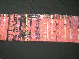 Tissu en coton de soie imprimé en motif abstrait