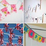 Últimos indicadores de moda modificados para requisitos particulares del banderín de la tela del diseño para la decoración del cumpleaños
