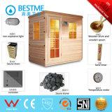 La madera casera de la sauna del vapor pulsa el sitio (KB--947)