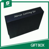 Boîte-cadeau de luxe faite sur commande avec le clinquant d'or Stampping
