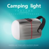 Côté imperméable à l'eau extérieur de pouvoir avec le haut-parleur de bluetooth et l'éclairage LED campant