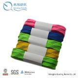 Cordones de encargo planos coloreados anchos al por mayor del patín del hockey de los deportes