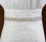 Fascia d'accensione Handmade del nastro del Organza o del raso del Brooch che Wedding cinghia nuziale