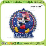 Ricordo promozionale personalizzato Florida (RC- Stati Uniti) dei magneti del frigorifero del silicone dei regali
