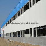 Costruzione della struttura d'acciaio dei due piani per il magazzino d'acciaio