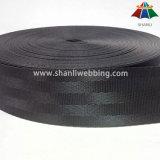 Tessitura nera della cintura di sicurezza del poliestere da 1.5 pollici
