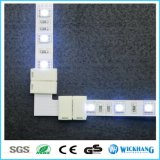 LED 5050 지구 철사 연결관 RGB 각 구석 접합기 클립