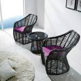 Foshan-Fabrik-handgemachtes im Freien Möbel-Aluminiumrahmen PET aus Weiden geflochtenes doppeltes Sofa