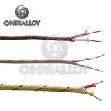 Tipo del alambre K del termocople con el aislante de la fibra de vidrio