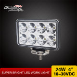 24W 4 인치 - 고성능 사각 4X4 Offroad LED 일 빛