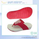 Ботинки высоты ЕВА увеличивая с верхушкой PU, Funky Flops Flip женщин клина