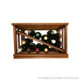 Cremalheira de madeira da prateleira da adega de vinho do armazenamento do assoalho Stackable