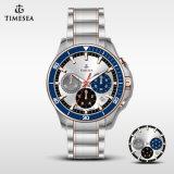 Homens impermeáveis Watch72228 de quartzo do esporte da forma do Wristband do aço inoxidável