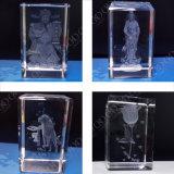 кристаллический внутренний гравировальный станок лазера 3D