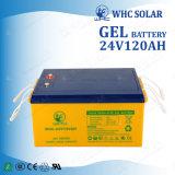 batterie rechargeable solaire de gel d'UPS de cycle profond de batterie de pouvoir de 24V 120ah
