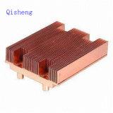 Disipador de calor, cobre o aluminio que raspa, espesor de la aleta 0.2 milímetros