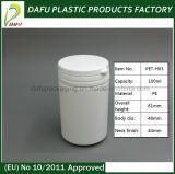 Бутылка пилюльки цилиндра HDPE 70ml пластичная