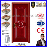 Entrée principale indienne peignant la porte en bois
