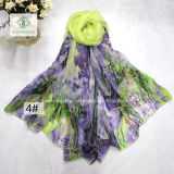 All-Abgleichung Form gedruckte Dame Fashion Silk Scarf Factory