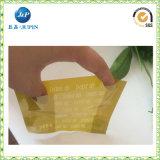 O logotipo personalizado vendas por atacado imprime o saco transparente da embalagem do PVC (JP-plastic040)