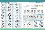 Кабель с 10 проводами руководства, зажим Schiller EKG терпеливейший, кнопка, банан, законцовка DIN женская