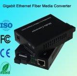 Convertidor de los medios de la fibra de Ethernet del gigabit con solo modo y la sola fibra