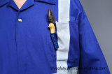 Vêtements 100% de travail ignifuges de sûreté de Proban de coton avec la bande r3fléchissante