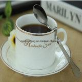 As colheres de café do aço inoxidável curvaram a colher de sopa do chá da colher de prata