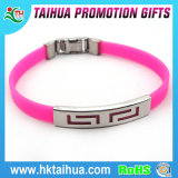 Stainless Steel Buckle Plate에 Medical Sign를 가진 개인화된 Silicone Bracelet