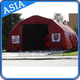Tente militaire gonflable en plein air, tente de structure gonflable, Crosse rouge