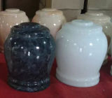 De natuurlijke Urnen van de Crematie van de Steen Marmeren