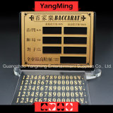 고급 순수한 구리 오락 내기 카드 -1 (YM-LC08)