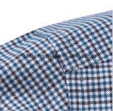 Drei Farbe kleines Houndstooth Hemd mit schwarzer und roter Check-innerer Muffe