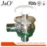 Válvula Adjustive sanitaria de la válvula de regulación que invierte la válvula