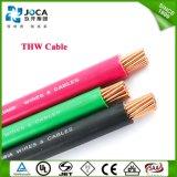 Thw #10 10AWG 10 Anzeigeinstrument-fester roter Gebäude-elektrisches Kabel-Draht