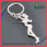 Deporte barato Shaped humano de encargo Keychains del metal de Keychain