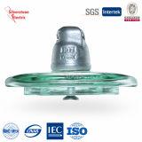 U240 120kN endureció la suspensión disco de vidrio aislante IEC