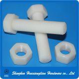 Weißer/schwarzer Hex/Hexagonal Hauptplastiknylonschraubbolzen