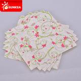 1 piega 2 pieghe tovagliolo di carta stampato disegno del fiore di arte delle 3 pieghe
