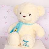 Nouveau jouet 100% bourré de peluche de coton d'ours de nounours de pièce rapportée de la conception 2015