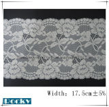 Il merletto di Lycra di disegno del fiore della Corea di modo assetta la larghezza 17.5cm