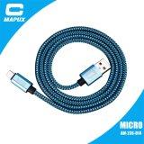 Cavo Braided del USB di Chargering del nylon rovesciabile micro
